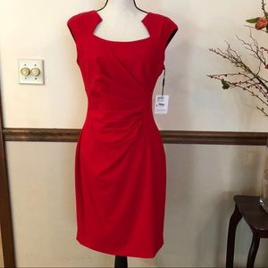 Beautiful red CALVIN KLEIN dress NWT
